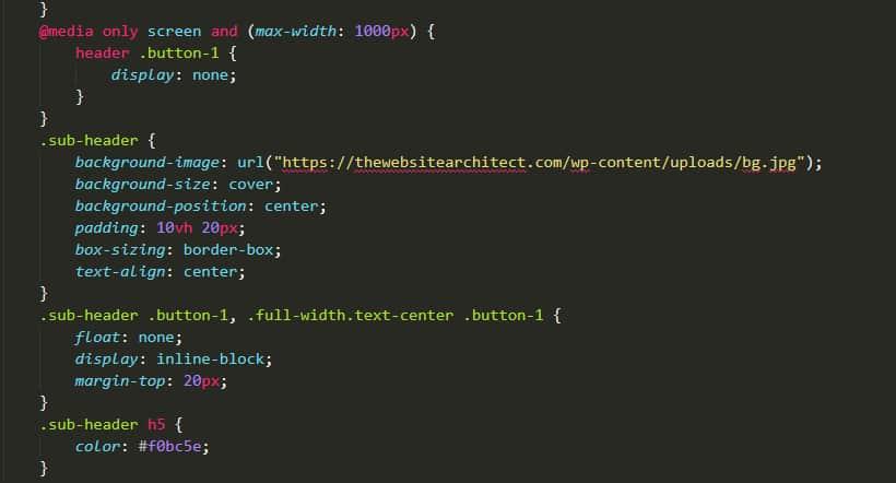 css code in wordpress