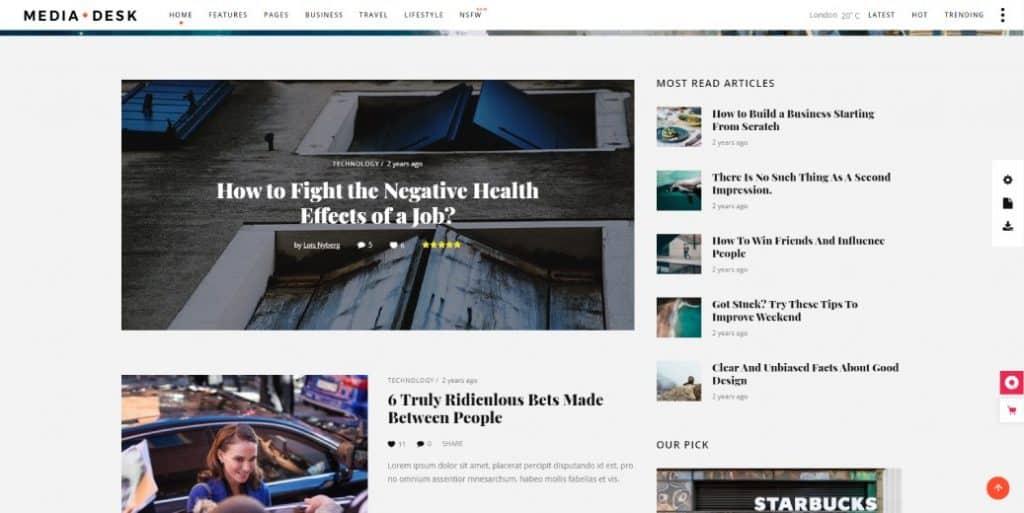 mediadesk wordpress theme