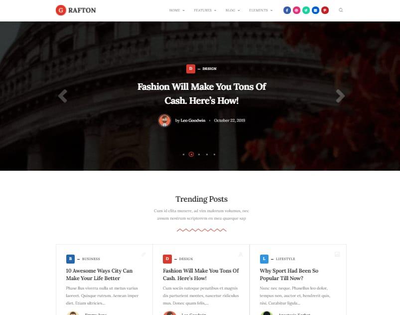 grafton wordpress theme