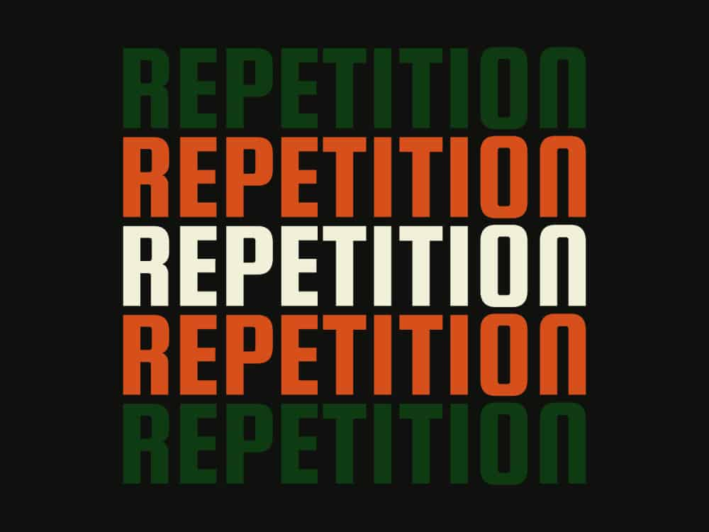 repetition examples in graphic design
