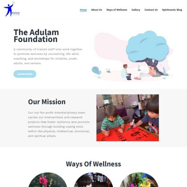 adulam foundation website design
