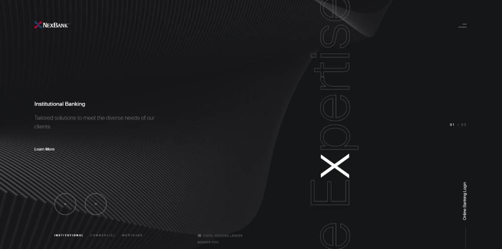 fullscreen homepage layout
