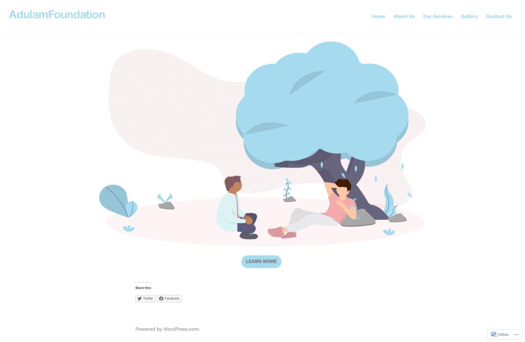 website charity design