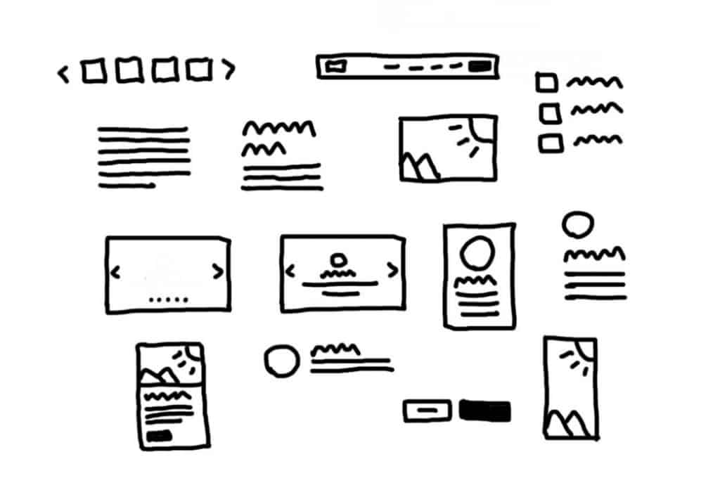 website wireframe elements