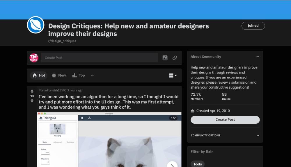 subreddit for web design