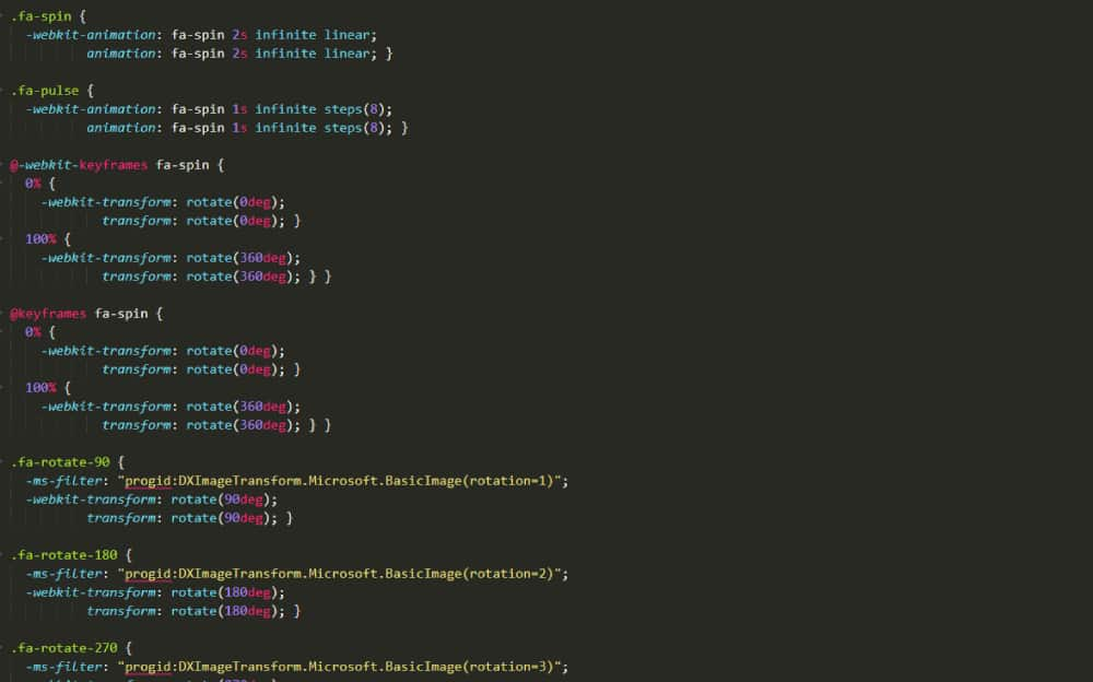 font awesome animation code