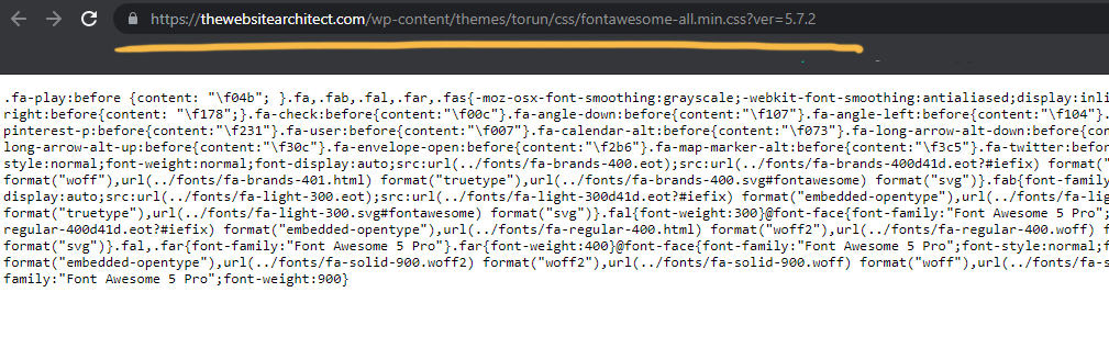 font awesome url