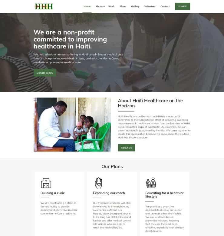 haiti healthcare on-the horizon website