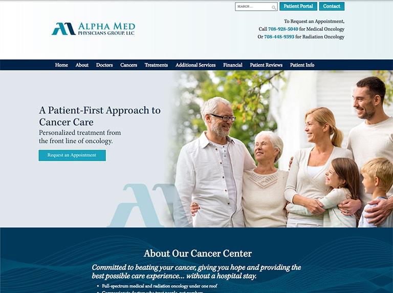 best healthcare website design screenshot