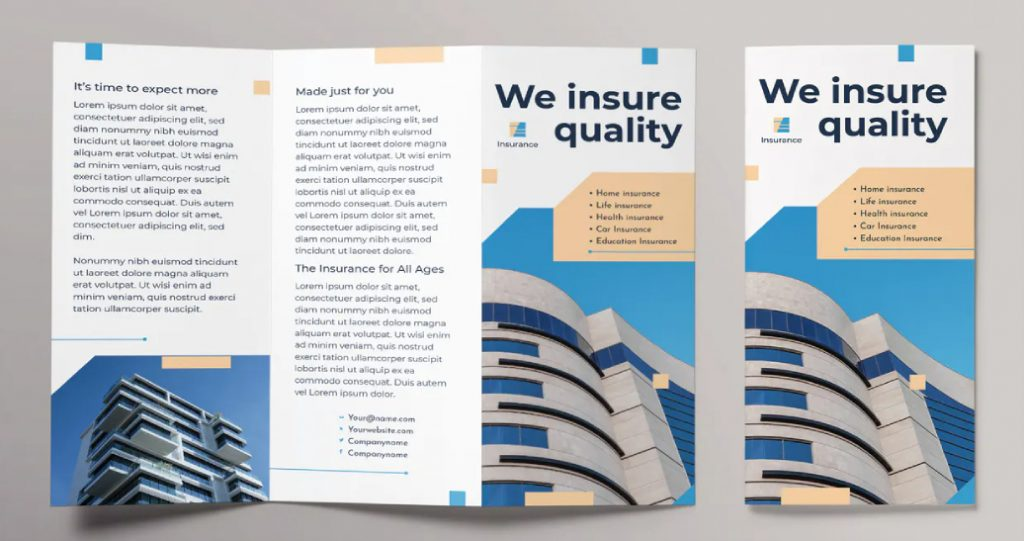 repetition in a brochure design