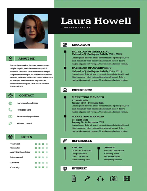 repetition in resume design