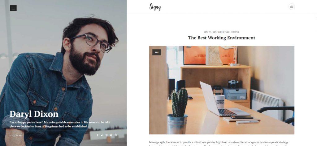signy wordpress theme