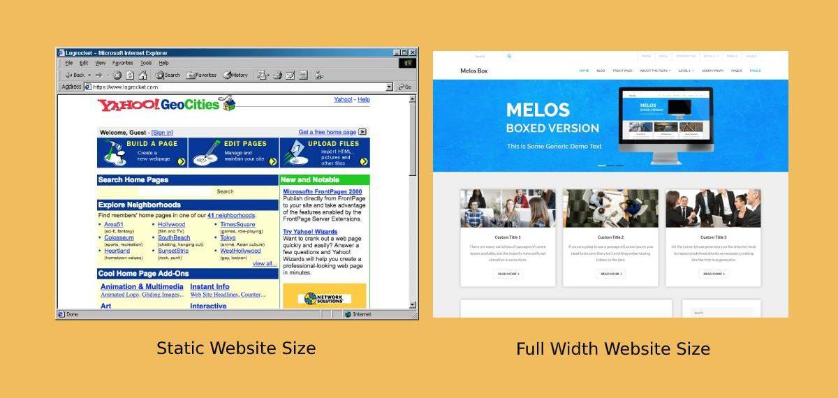 modernizing website with full width wrapper