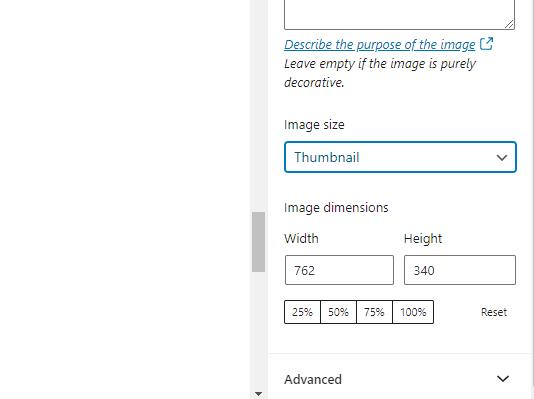 wordpress image sizes