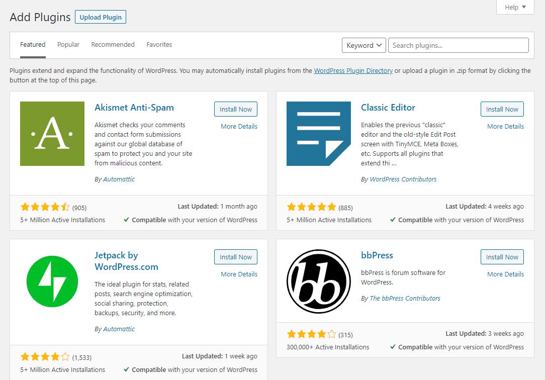 wordpress plugin store